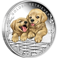2018 Tuvalu 50-cent Puppies - Golden Retriever 1/2oz. Silver Proof (No Tax)