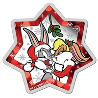 2018 Tuvalu $1 Looney Tunes Christmas Star Shaped 1oz. Coloured Silver (No Tax)