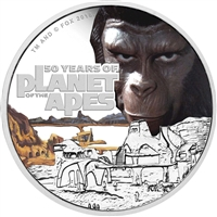 2018 Tuvalu $1 50th Anniversary of the Planet of the Apes Silver Proof (No Tax)