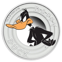 2018 Tuvalu 50-cent Looney Tunes - Daffy Duck 1/2oz. Silver Proof (No Tax)
