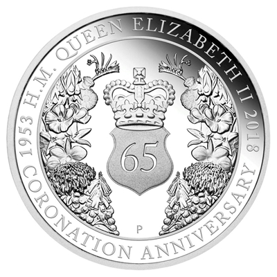 2018 Australia $1 65th Anniversary of the Coronation of QEII Silver Proof (No Tax)