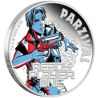 2018 Tuvalu $1 Ready Player One - Parzival 1oz. Silver Proof (No Tax)