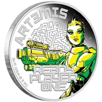 2018 Australia $1 Ready Player One - Art3mis 1oz. Silver Proof (No Tax)
