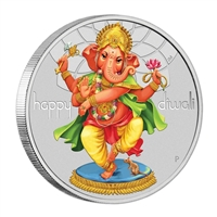 2018 Tuvalu $1 Diwali Festival 1oz Silver Proof (No Tax)