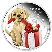 2018 Australia 50-cent Baby Dog 1/2oz. Silver Proof (No Tax)