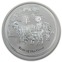 2015 Australia Lunar II Year of the Goat 1/2oz. Silver Proof (No Tax)