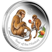 2016 Australia $1 Year of the Monkey Coloured Silver Proof (No Tax)