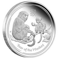 2016 Australia 1/2oz. Lunar Year of the Monkey Silver Proof (No Tax)