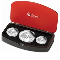 2016 Australia Year of the Monkey Fine Silver 3-coin Set (No Tax)