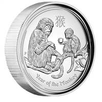 2016 Australia $1 Year of the Monkey High Relief Silver (No Tax)