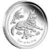 2018 Australia 50-cent Year of the Dog 1/2oz. Silver Proof Coin (TAX Exempt)