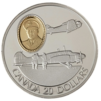 1990 Canada $20 Aviation - Avro Anson & NA Harvard Sterling Silver