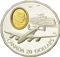 1990 Canada $20 Aviation - The Avro Lancaster Bomber Sterling Silver