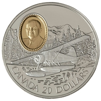 1991 Canada $20 Aviation - De Havilland Beaver Sterling Silver