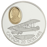 1992 Canada $20 Aviation - The Curtiss JN4 Sterling Silver Coin