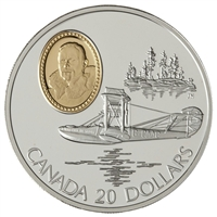 1994 Canada $20 Aviation - Curtiss HS-2L Sterling Silver Coin