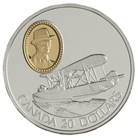1994 Canada $20 Aviation Series Vickers Vedette Sterling Silver
