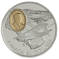 1995 Canada $20 Aviation - Fleet 80 Canuck Sterling Silver Coin
