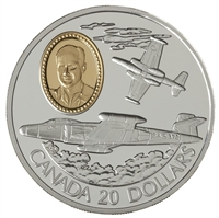 1996 Canada $20 Aviation - Avro CF-100 Canuck Sterling Silver Coin