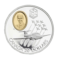 1997 Canada $20 Aviation CT-114 Tutor Jet - Snowbirds Sterling Silver