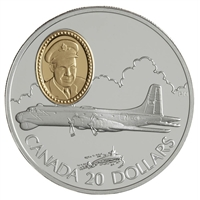 1998 Canada $20 Aviation - Canadair CP-107 Argus Sterling Silver