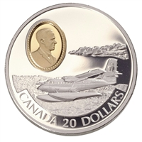 1999 Canada $20 Aviation - de Havilland DHC-6 Twin Otter Sterling Silver
