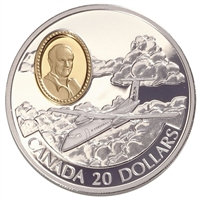 1999 Canada $20 Aviation - de Havilland DHC-8 Dash 8 Sterling Silver