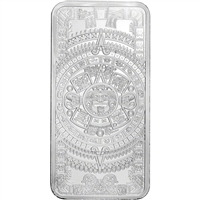 Aztec Calendar 10oz. .999 Silver Bar (No Tax)