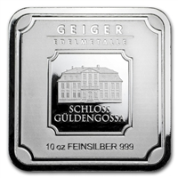 (Pre-Order) Geiger Edelmetalle 10oz. .999 Silver Bar (No Tax)