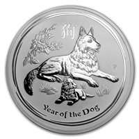 2018 Australia $10 Year of the Dog 10 oz. Silver (No Tax)