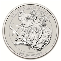 2018 Australia $30 Koala .999 Silver Kilo (TAX Exempt) Impaired
