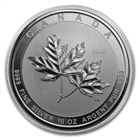 (Pre-Order) 2018 Canada $50 Magnificent Maple Leaves 10oz. Silver (No Tax)