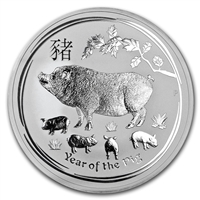 2019 Australia $10 Year of the Pig 10oz. .999 Silver (No Tax)