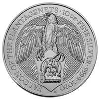 2020 Great Britain 10 Pound Queen's Beasts - The Falcon 10oz. Silver (No Tax)