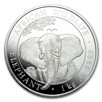 2021 Somalia 2000 Shillings Elephant Kilo .9999 Silver (No Tax)