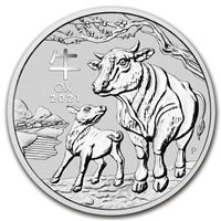 (Pre-Order) 2021 Australia $30 Year of the Ox Kilo .9999 Silver (No Tax)