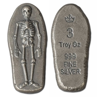 Monarch Skeleton 3oz. .999 Fine Silver (TAX Exempt)