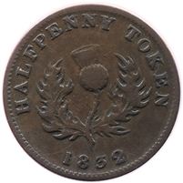 1837 Bank Tokens LC-9C2 Banque Du Peuple Penny VF-EF