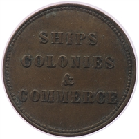 PE-10-40 No Date PEI Ships Colonies & Commerce Bank Token, VF-EF (VF-30) $
