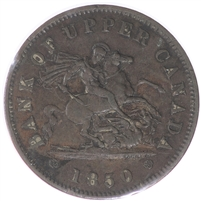 PC-6A1 1850 Province of Canada Penny Bank Token, Extra Fine (EF-40)