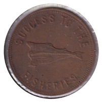 PE-5B1 No Date (1860) PEI Speed the Plough Bank Token, VF-EF (VF-30)