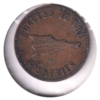 PE-5B1 No Date (1860) PEI Speed the Plough Bank Token, Fine (F-12)