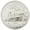 1981 Canada Trans-Canada Railway Centennial Brilliant Uncirculated Dollar (lightly toned)