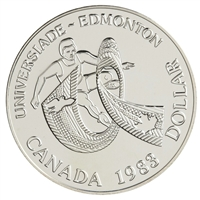 1983 Canada World University Games Brilliant Uncirculated Dollar (lightly toned)