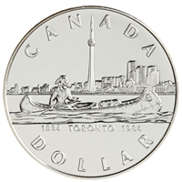 1984 Canada Toronto Sesquicentennial Brilliant Uncirculated Dollar (lightly toned)