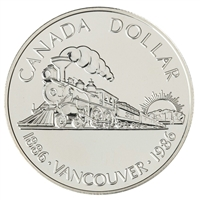 1986 Canada Vancouver Centennial Brilliant Uncirculated Dollar (lightly toned)