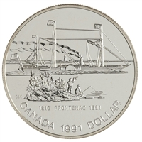1991 Canada 175th Ann. of the Frontenac .50 BU Silver Dollar (lightly toned)