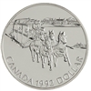 1992 Canada Kingston to York Stagecoach Sterling Silver BU Dollar (lightly toned)