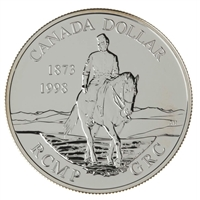 1998 Canada 125th Ann. of the RCMP Brilliant Uncirculated Sterling Silver Dollar