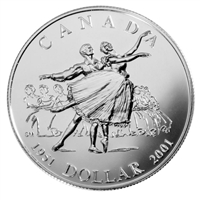 2001 Canada Brilliant Uncirculated Dollar - National Ballet of Canada.